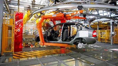 Автоматизированная сборка кузовов Granta/Kalina. Автомобили Лада Калина 2. Новости, описание, видео.