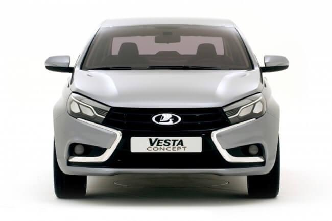 Новый логотип АвтоВАЗа на решётке радиатора LADA Vesta. Автомобили Лада Калина 2. Новости, описание, видео.