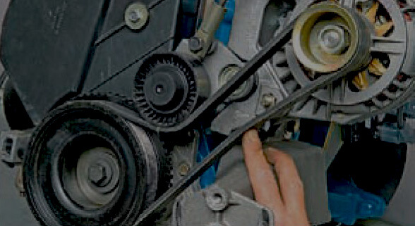 Натяжка и замена ремня генератора на LADA Kalina