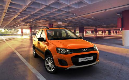 Kalina Cross, цвет Апельсин. Автомобили Лада Калина 2. Новости, описание, видео.