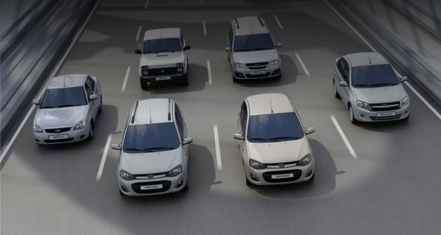 Автомобили LADA, получившие высокий спрос в октябре 2014 г