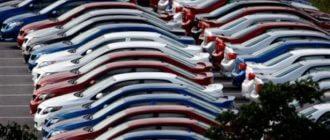 Склад новых авто, российские автодилеры