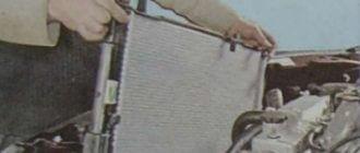 Демонтаж радиатора
