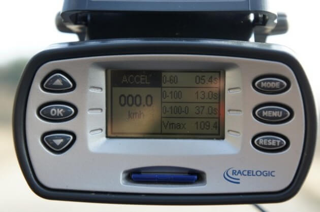 Табло прибора с показателем скорости