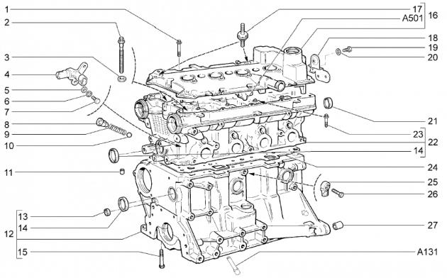 Датчик детонации, двигатели 21127/21126