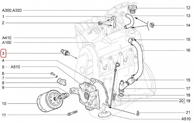 8-клапанный двигатель, датчик давления