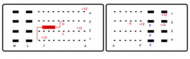 Схема подключения ЭБУ M74CAN к программатору